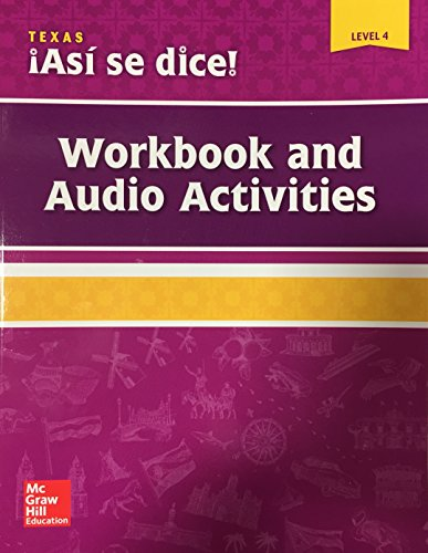 9780076668595: Asi se dice! Level 4, Workbook and Audio Activities