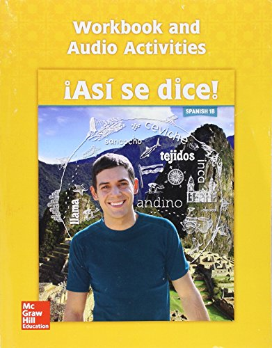 9780076690800: Asi Se Dice! Level 1b, Workbook and Audio Activities