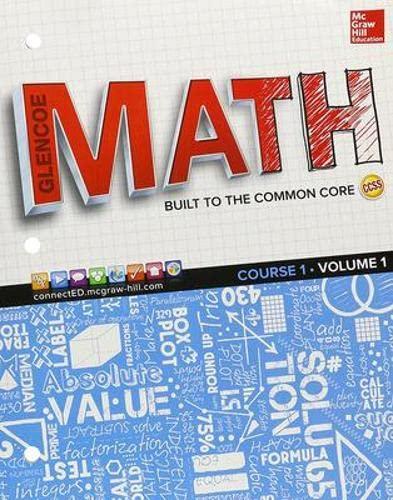 9780076691005: Glencoe Math, Course 1, Student Edition, Volume 1