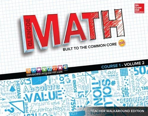 9780076702886: Glencoe Math: Course 1, Vol. 2, Teacher Walkaround Edition (MATH APPLIC & CONN CRSE)