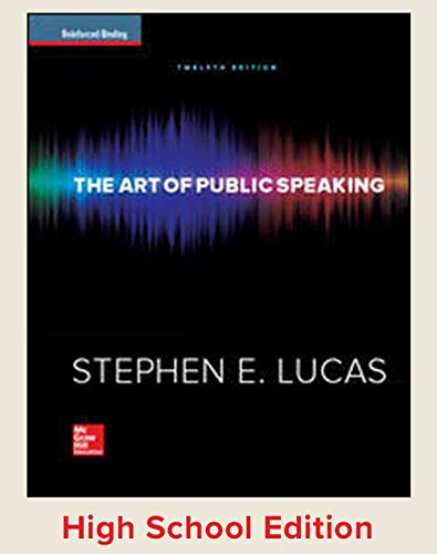 9780076703289: Student Edition, the Art of Public Speaking Reinforced Binding