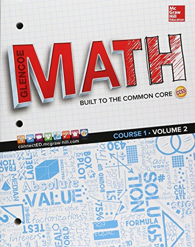 9780076709304: Glencoe Math, Course 1, Student Edition, Volume 2 (MATH APPLIC & CONN CRSE)