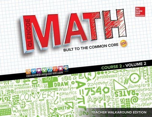 9780076786879: Glencoe Math, Course 2, Vol. 2, Teacher walkaround edition
