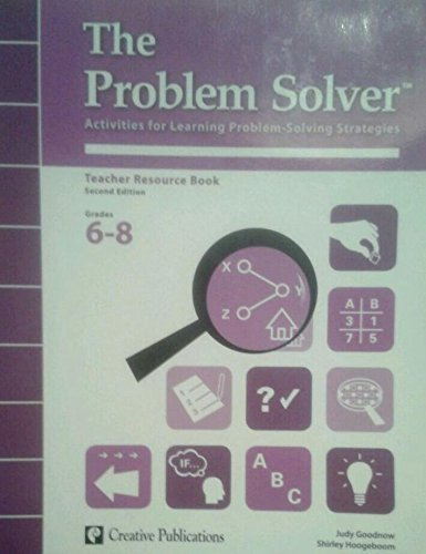 9780077041083: The Problem Solver Activities for Learning Problem Solving Strategies Teacher Resource Book 2nd Edition Grades 6-8