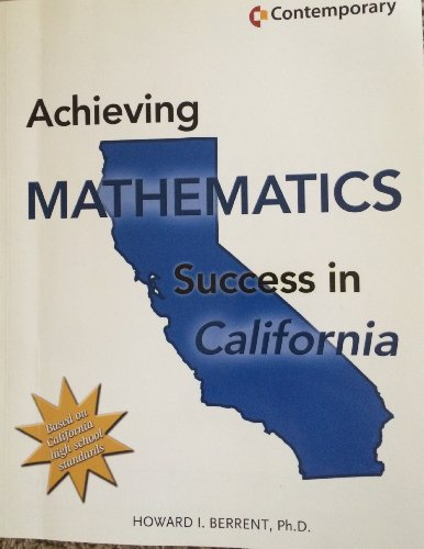9780077044046: Contemporary's Achieving Mathematics Success in California