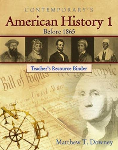 9780077044367: American History 1 (Before 1865) - Teacher's Resource Binder