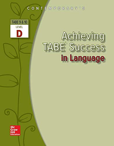9780077044572: Achieving TABE Success in Language, Level D (Achieving TABE Success for TABE 9 & 10)
