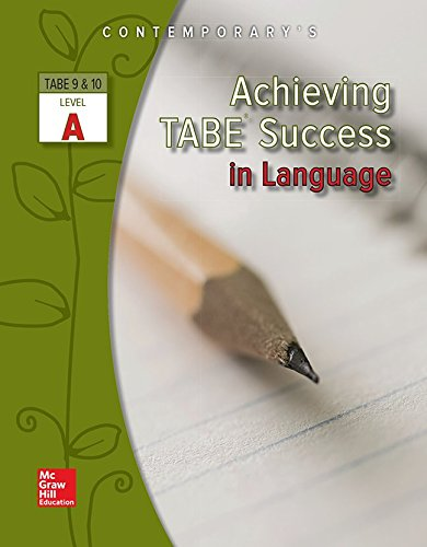 9780077044589: Achieving TABE Success in Language, TABE 9 & 10 Level A