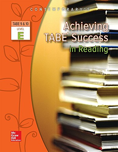 9780077044596: Achieving TABE Success in Reading, TABE 9 & 10 Level E - Workbook
