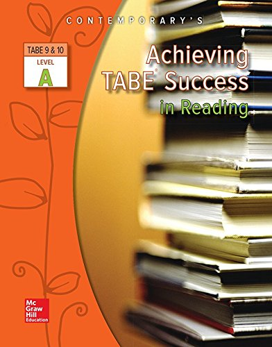 9780077044626: Achieving TABE Success in Reading, TABE 9 & 10 Level A - Workbook