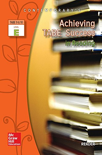 9780077044633: Achieving TABE Success in Reading, Level E, Reader (Contemporary's Achieving TABE Success)