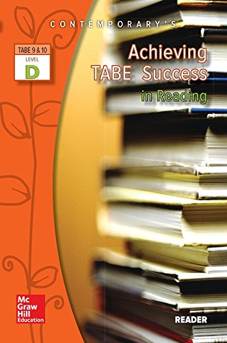 9780077044657: Achieving Tabe Success in Reading, Level D Reader (Achieving Tabe Success for Tabe 9 & 10)