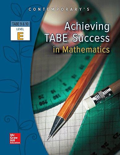 9780077044671: Achieving TABE Success in Mathematics, Level E