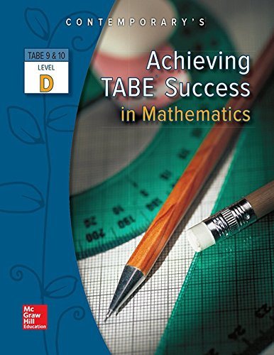 Achieving Tabe Success in Mathematics, Tabe 9: McGraw-Hill