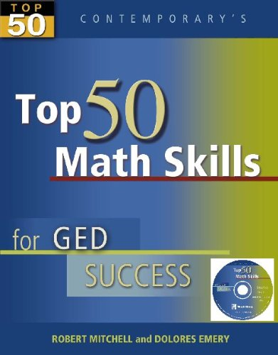 9780077044848: Top 50 Math Skills for GED Success, Student Text with CD-ROM (Contemporary's Top 50)