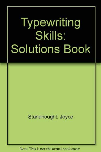 9780077071035: Typewriting Skills: Solutions Book