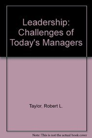 9780077071608: Leadership: Challenges of Today's Managers