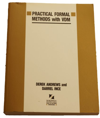 9780077072148: Practical Formal Methods With Vdm (Mcgraw Hill International Series in Software Engineering)