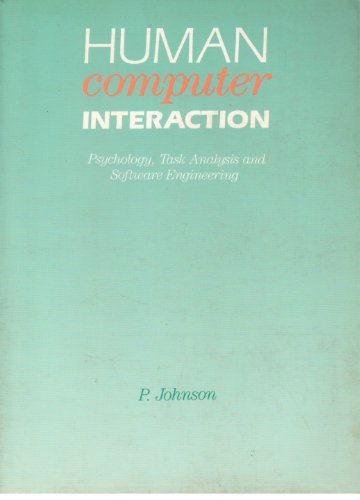 9780077072353: Human Computer Interaction: Psychology, Task Analysis and Software Engineering