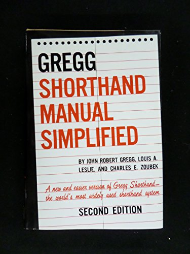 9780077072506: Gregg Shorthand Manual Simplified