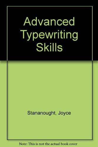9780077072919: Advanced Typewriting Skills