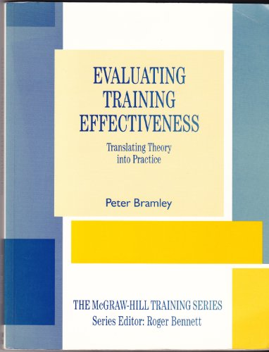 9780077073312: Evaluating Training Effectiveness (The McGraw-Hill training series)