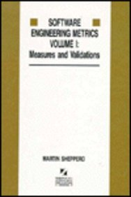 9780077074104: Software Engineering Metrics: Measures and Validations (The Mcgraw-Hill International Series in Software Engineering)