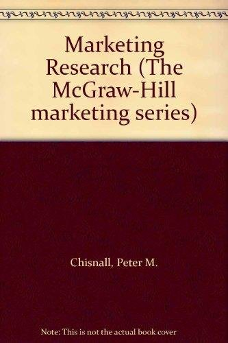 9780077074296: Marketing Research (Mcgraw Hill Series in Marketing)
