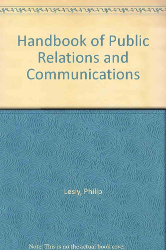 9780077074913: Handbook of Public Relations and Communications