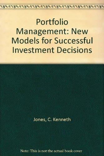 9780077075835: Portfolio Management: New Models for Successful Investment Decisions