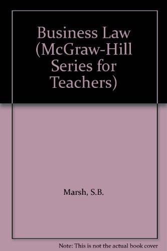 9780077076030: Business Law (McGraw-Hill Series for Teachers)