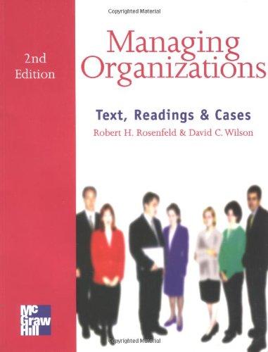 9780077076436: Managing Organizations (UK Higher Education Business Management)