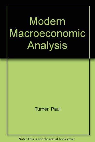 9780077077174: Modern MacRoeconomic Analysis