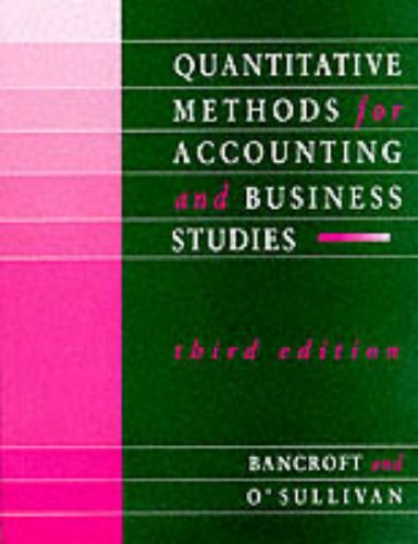 9780077077310: Quantitative Methods for Accounting and Business Studies