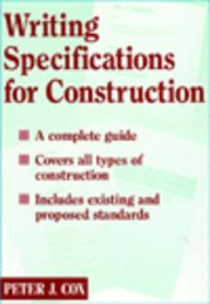 9780077078034: Writing Specifications for Construction