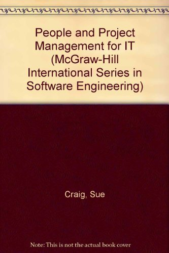9780077078843: People and Project Management for IT (McGraw-Hill International Series in Software Engineering)