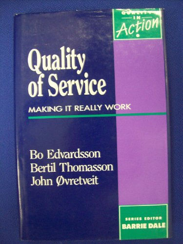 9780077079499: Quality of Service: Making it Really Work (McGraw-Hill Quality in Action)