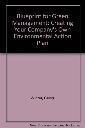 9780077090159: Blueprint for Green Management: Creating Your Company's Own Environmental Action Plan