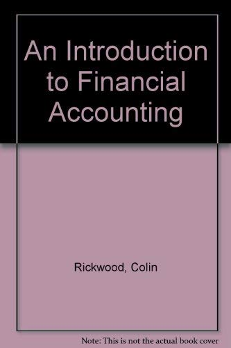 An Introduction to Financial Accounting: Andrew Thomas; Colin Rickwood