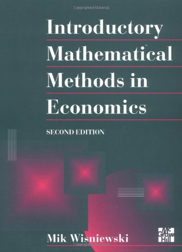 9780077091095: Introductory Mathematical Methods in Economics