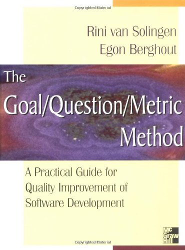 9780077095536: Goal/Question/Metric Method: A Practical Guide for Quality Improvement of Software Development