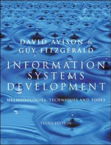9780077096267: Information Systems Development: Methodologies, Techniques and Tools (Information systems series)