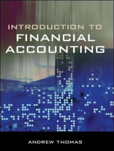 Introduction to Financial Accounting 4/e