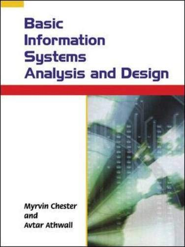 9780077097844: Basic Information Systems Analysis and Design