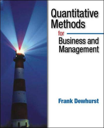 9780077098056: Quantitative Methods for Business Management