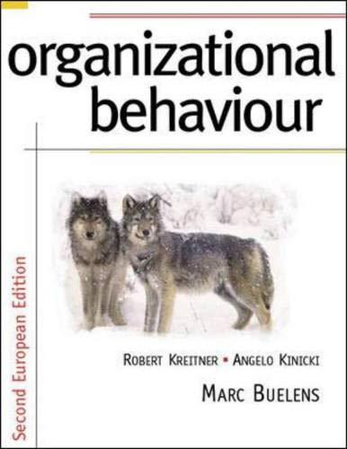 Organizational Behavior: Kreitner, Robert