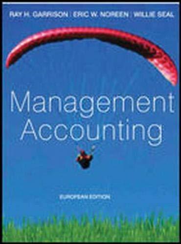 9780077098599: Management Accounting: European Adaptation