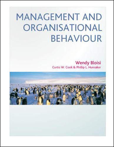 9780077099459: Management and Organisational Behaviour: European Edition