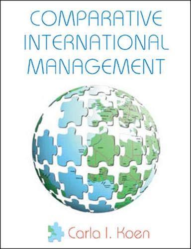 9780077103910: Comparative International Management