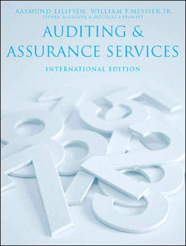 9780077104177: Auditing and Assurance Services International Edition